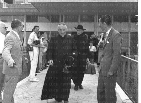 In partenza per il Brasile, il 17 luglio 1955